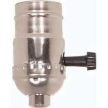 3 Terminal (2 Circuit) Turn Knob Socket, 1/4 Ips- Brite Gilt