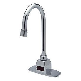 Sensor Tee (Zurn Z6920-CP4-MT Gooseneck Battery Sensor Faucet 4Cc with Mixing Tee and Back Checks by Zurn)