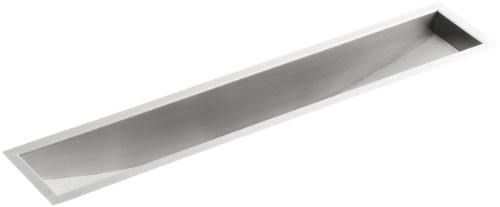 - KOHLER K-3188-NA Undertone Undercounter Trough Sink, Stainless Steel