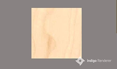 3 mm 1/8 x 10 x 10 Premium Baltic Birch Plywood, Box of 16 B/BB Grade Birch Veneer Sheets, Laser Cutting, CNC, Wood Burning and DIY Projects one Clear face
