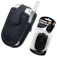 (Cellet Premium Cell Phone Pouch (for Small Flip Phones) with Magnet Button (Small Black) - Retail)