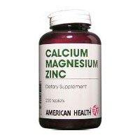 Chelated Tabs Calcium (American Health Calcium/Magnesium/Zinc Tablets, 250 Count)