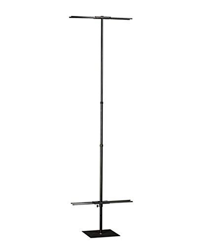 Metal Banner Display Stand with Telescoping Center Pole, 8 Foot