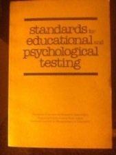 Standards for Educational and Psychological Testing (Difference Between Psychological Testing And Psychological Assessment)