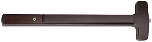 Falcon 25-R-EO 313AN Series Grade 1 Wide Stile Touch Bar Exit Device, Rim Device, Exit Only Trim, Hex Key Dogging, Duranodic Dark Bronze Finish