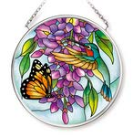 Amia Wisteria Small Glass Circle Suncatcher, 3-1/2