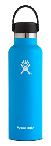 Hydro Flask 21 oz Water Bottle | Stainless Steel & Vacuum Insulated | Standard Mouth with Leak Proof Flex Cap | Pacific