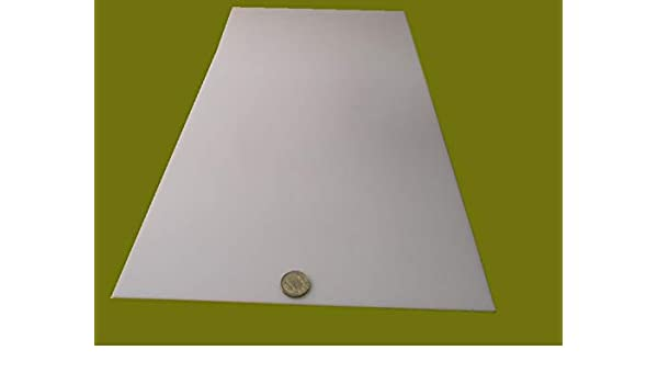 """.094/"""" Thick x 24/"""" Width x 24/"""" Length 3//32/"""" White POM Delrin Acetal Sheet"""