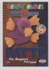 Birthday or Rookie - Patti the Magenta Platypus (Trading Card) 1999 Ty Beanie Babies Series 2 - [Base] - Chase Blue #266