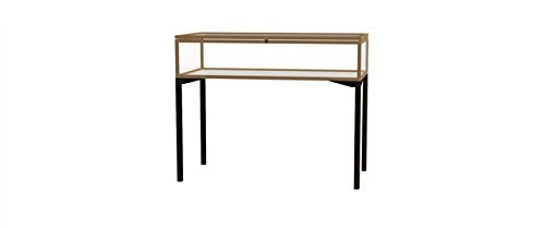 (Waddell 3148HT-GD-LB Keepsake 48 x 10 x 24 in. Table Top Four Leg Display Case with 4 ft. Length Hinged Top44; Champagne Gold)