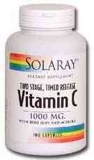 Solaray C Two-Stage Timed Release Supplement, 1000mg, 250 Count (Pack of 3)
