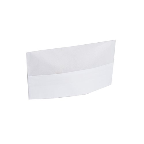 Royal Plain White Disposable Overseas Caps, Package of 100