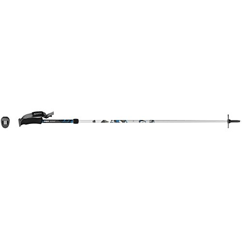 Swix Sonic R2 Carbon/Aluminum Adjustable Alpine Pole (2-Piece), Black/Blue, Small/105-130cm
