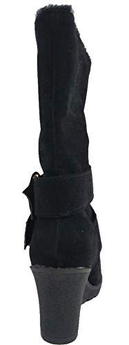 Noir Femme Compensé Spécial Bouble Talon Botte Aisun Boucle Ski aw8qwU