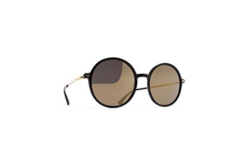 Sunglasses Mykita Lite Sun ANANA 919 Unisex Black Round Light Gold - Mykita Sunglasses