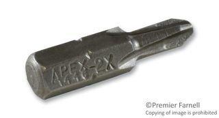 (APEX 446-2X HEX BIT, PHILLIPS, #2X25MM, TOOL STEEL (10 pieces))
