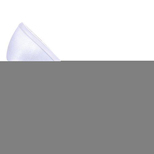 Mariage Blanc Femmes Talons Chaussures Peep Toe Satin Pompes Fête Hauts Elegantpark De À Lace UdPOqnwO