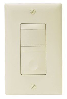 Wattstopper Vacancy Sensor Multi-way Switch, Ivory - Dimmer Switches ...