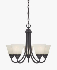 Designers Fountain 85185-ORB Kendall 5 Light Chandelier, Oil Rubbed (Kendall 5 Light Chandelier)