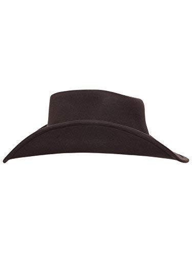 df40c5055a34fe Men's Outback Wool Cowboy Hat Dakota Brown Shapeable Western Felt by Silver  Canyon, Brown,