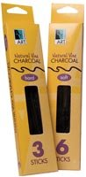 Art Alternatives - Vine & Willow Charcoal - Vine Charcoal - Extra Soft, 6/Box