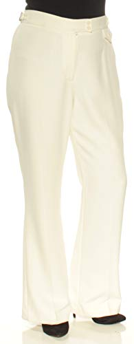 Anne Klein Womens Knit Hardware Accent Dress Pants White ()