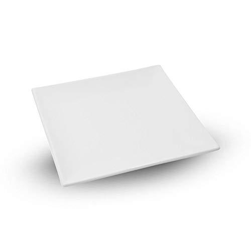 Korin Fusion White Square Plate 10.75