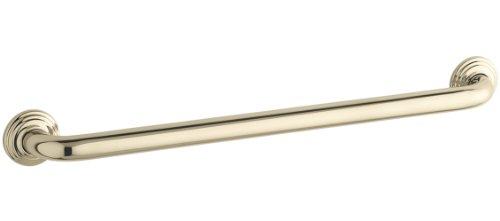 Af French Gold Toilet - KOHLER K-10542-AF Traditional 24-Inch Grab Bar, Vibrant French Gold