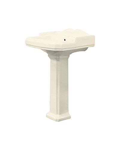 Transolid TLP-1484-08 Two-Piece Harrison Pedestal Lavatory in Biscuit