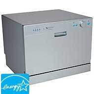 EdgeStar Countertop Portable Dishwasher for 6 Place Settings - Silver by EdgeStar