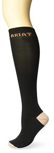 Ariat Women's Tall Boot Sock, Black, One Size