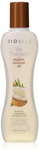 Biosilk Silk therapy with organic coconut oil leave-in treatment, 5.64oz, Organic Coconut, 5.64 Fluid Ounce, Standard