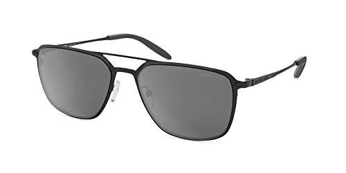 Michael Kors Men's 57 mm Trenton MK1050 Shiny Black/Silver Mirror One Size (Black Michael Kors Frames)