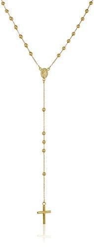 14k Yellow Gold Italian Rosary Necklace, 18.5