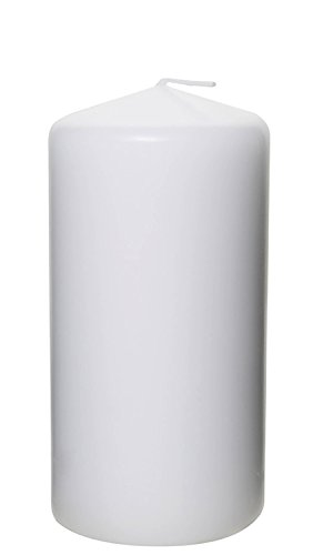 Pillar Candle for Wedding, Birthday, Holiday & Home Decoration by Royal Imports, 3x6, White Wax, 1 PC (1 Imports)