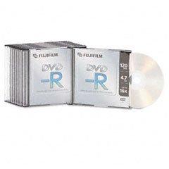 Fujifilm Media 25302261 DVD-R 4.7 GB 120 Mintues 16X Jewel C