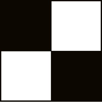 NMC CBT20136 2'' x 36'' Yds Black/White Checkerboard Safety Tape, Pack of 8 Rolls by National Marker