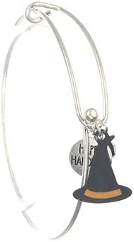Mayas Grace Halloween Witch Hat Bracelet Metal Bead Bangle