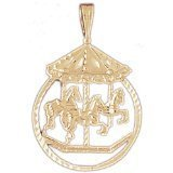 CleverEve 14K Gold Charm Carousels 3.7 Grams