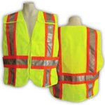 (5-Point Breakaway Mesh Safety Vest - Fire Rated (Medium/X-Large))