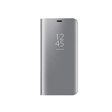 Casos hermosos, cubiertas, Funda Para Samsung Galaxy A8 2018 A8 Plus 2018 Cromado Espejo Flip Activación al abrir/Reposo al cerrar Funda de Cuerpo Entero Color ( Color : Azul claro , Modelos Compatibl Púrpula