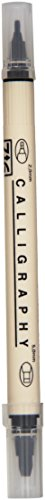 EK tools 55-30066 Zig Memory System Dual Tip Calligraphy Pen, Black, New Package