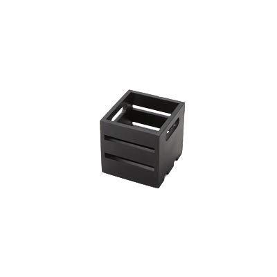 American Metalcraft WTBL6 Wooden Crate, Black, 6''