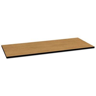Huddle Multipurpose Rectangular Top, 72w x 30d, Harvest/Black, Sold as 1 Each