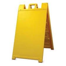 Plasticade Signicade Curb Sign / A-Frame 24x36' Sign. Color: Yellow