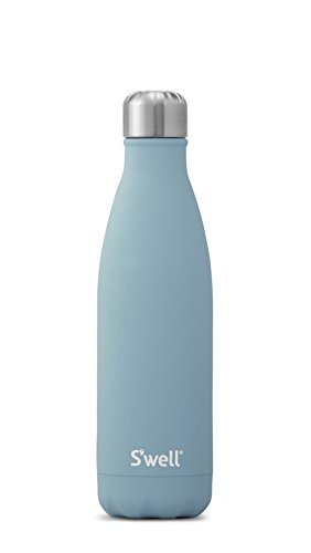 S'well AQST A17 Vacuum Insulated Double Wall Stainless Steel Bottle, 17 oz, Aquamarine