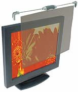 """Protective Filter for 15"""" Flat Panel LCD Monitor, Top Mount, Antiglare, Graphite (KMW55678) Category: Computer Monitor Filters"""