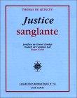 Justice sanglante par Thomas De Quincey