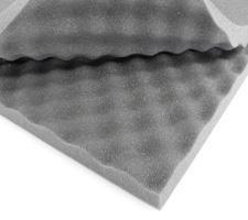 Plancha de espumas para embalaje perfilada 3/2 FR25 gris oscuro - Cráter grande 3cm: Amazon.es: Bricolaje y herramientas