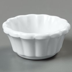 White 2 ounce Scalloped Ramekin -- 48 per case by Carlisle (Image #1)